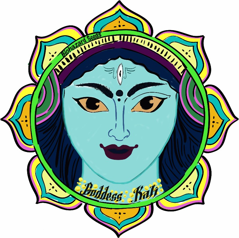 Goddess-Kali-Biohazard-Seeds-Logo